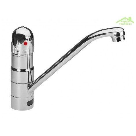 Robinet lavabo sensoriel automatique et thermostatique - Avec clapet - Avec clapet