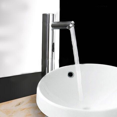 Robinet lavabo surélevé moderne à capteur automatique