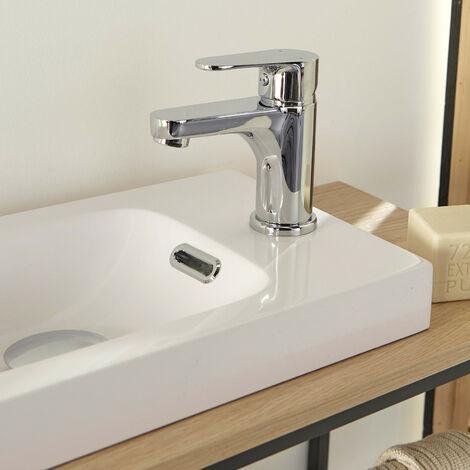 Robinet lave-mains Chromé - Mitigeur eau chaude / eau froide - TAP - Gris Clair