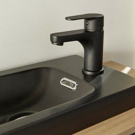 Robinet lave-mains Noir Mat - Mitigeur eau chaude / eau froide - GRIFO - Noir