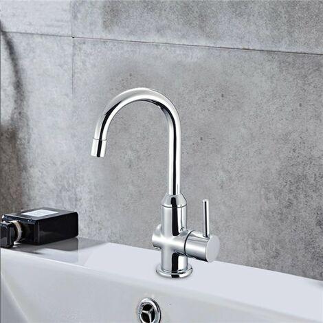 Robinet lave mains pour lavabo toilette tete ceramique demi tour