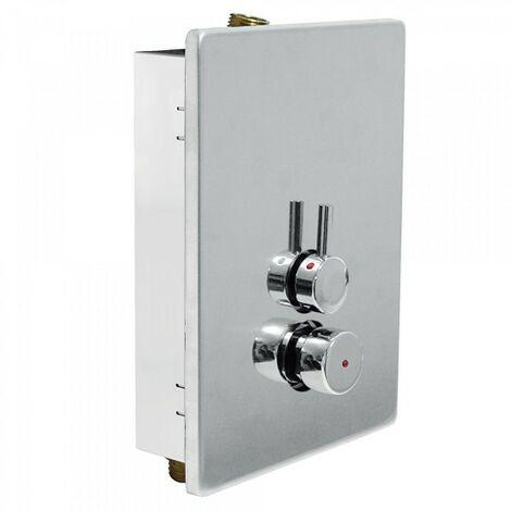 Robinet mélangeur pour douche à 2 arrivées d'eau Chromé TEMPOTRES - TRES 01217901