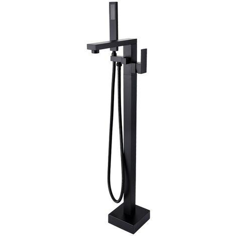 Robinet mitigeur bain-douche monocolonne Noir - Sirius