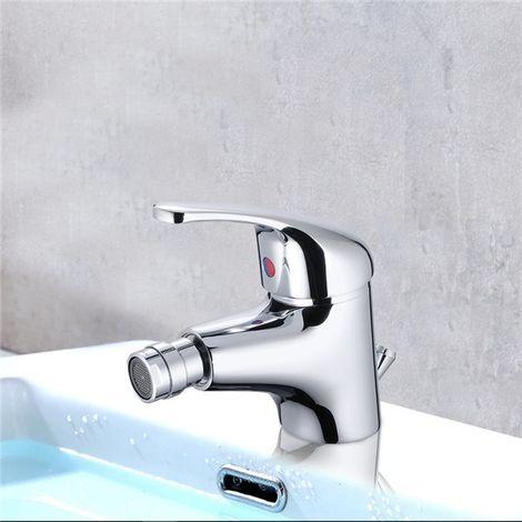 Robinet Mitigeur Bidet Bec orientable vidage salle de bain