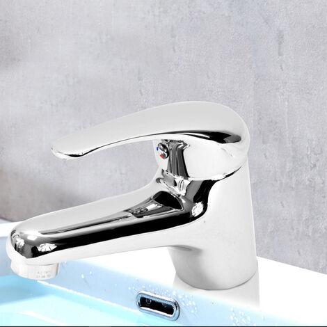 Robinet mitigeur de lavabo bas en laiton chrome avec cartouche ceramique