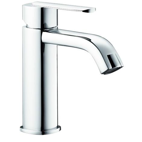 Robinet Mitigeur de lavabo bas en laiton chrome avec vidage pour vasque