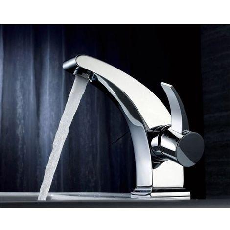 Robinet Mitigeur de lavabo chrome aerateur mousseur orientable Butee éco eau