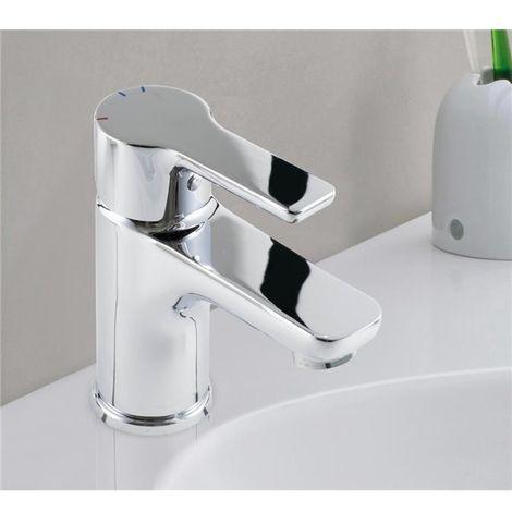 Robinet Mitigeur de lavabo chrome cartouche ceramique Butee economie d eau
