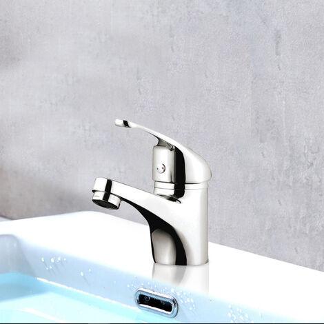 Robinet Mitigeur de lavabo chrome cartouche ceramique butee economique