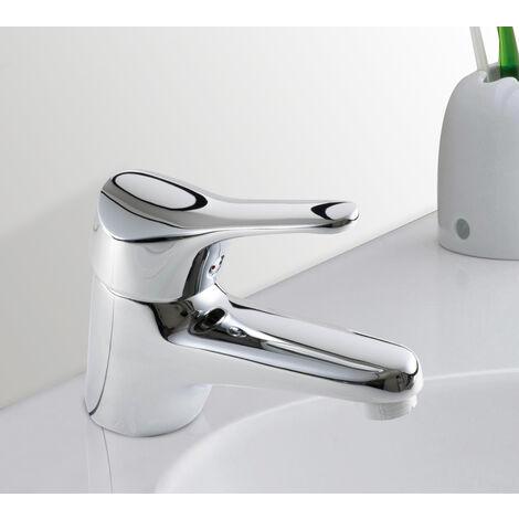 Robinet Mitigeur de lavabo chrome cartouche ceramique Economie d eau