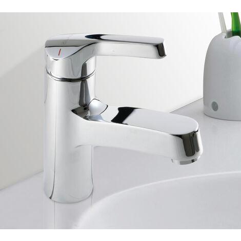 Robinet Mitigeur de lavabo chrome Design Butee economie d eau