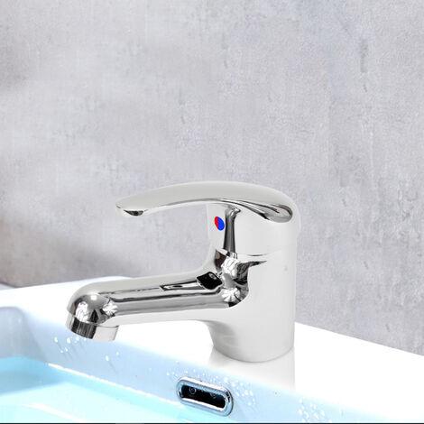 Robinet Mitigeur de lavabo chrome Design cartouche ceramique