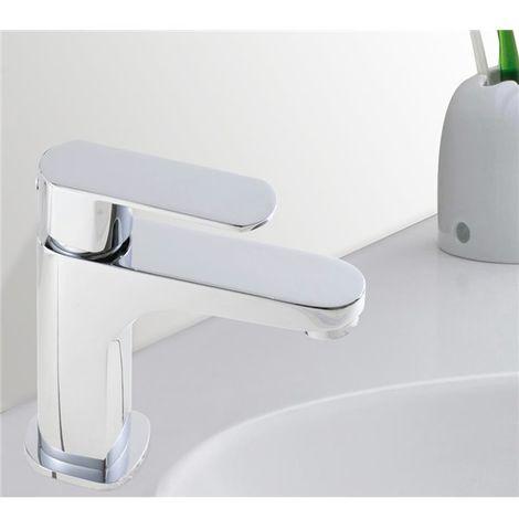 Robinet Mitigeur de lavabo chrome Design Limiteur debit cartouche ceramique