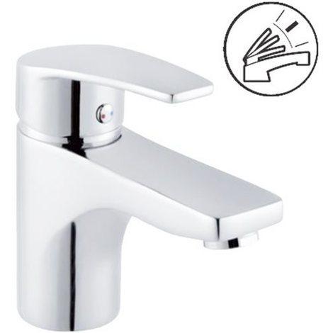 Robinet mitigeur de lavabo en laiton chrome avec vidage pour vasque