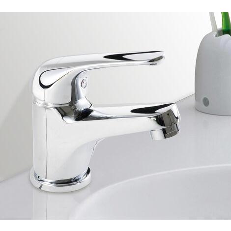 Robinet mitigeur de lavabo en laiton chrome cartouche ceramique