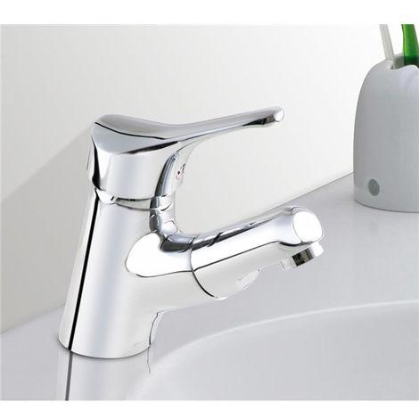 Robinet mitigeur de lavabo et vasque avec douchette extractible
