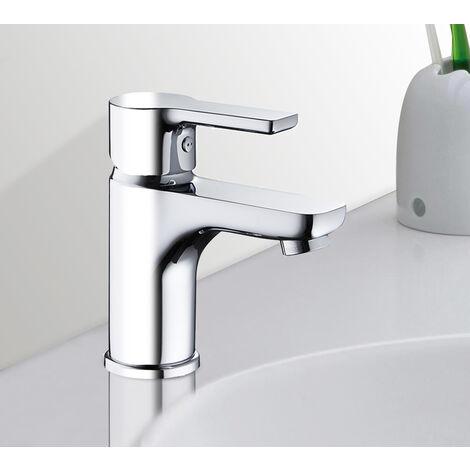 Robinet mitigeur de lavabo et vasque en laiton chrome