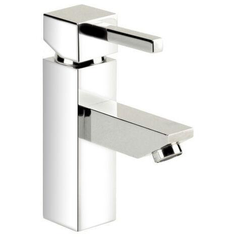 Robinet Mitigeur de lavabo vasque design cubique chrome cartouche ceramique