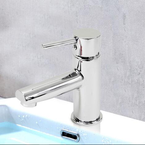 Robinet mitigeur de lavabo vasque laiton chrome cartouche ceramique