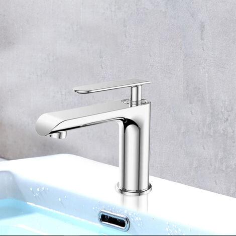 Robinet mitigeur design de lavabo et vasque en laiton chrome Bonde clic clac