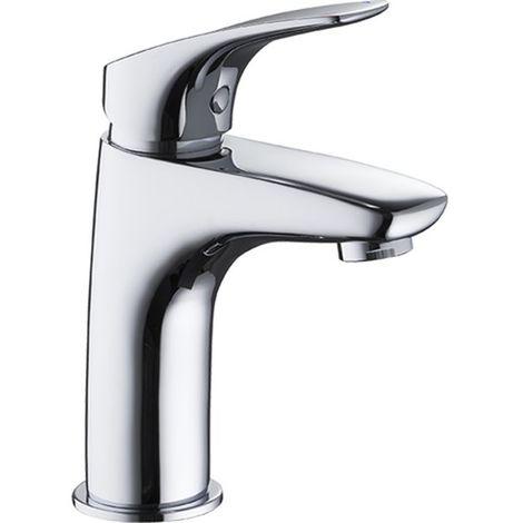 Robinet mitigeur design de lavabo vasque en laiton chrome avec vidage