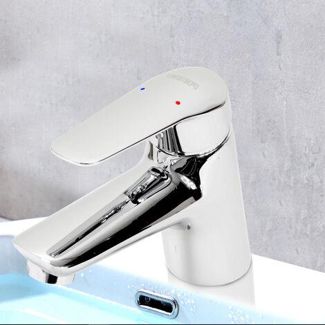 Robinet mitigeur lavabo vasque design laiton chrome