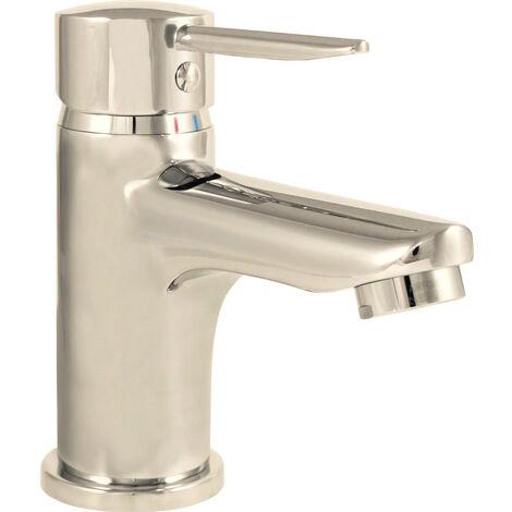 Robinet mitigeur lavabo vasque laiton chrome vidage tirette cartouche ceramique