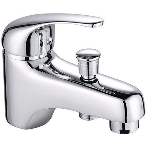 Robinet mitigeur monotrou bain douche en laiton chrome pour baignoire