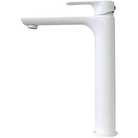 Robinet mitigeur pour lavabo ou vasque 4025W en blanc brillant