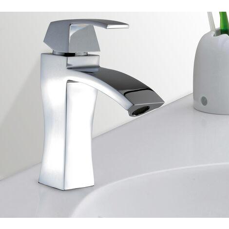 Robinet mitigeur vasque lavabo a poser design cubique moderne