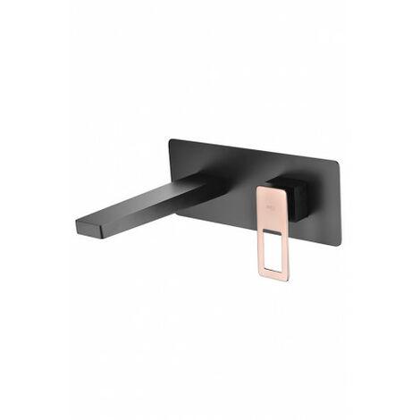 Robinet pour lavabo à encastrer noir et or rose Imex - Serie Suecia