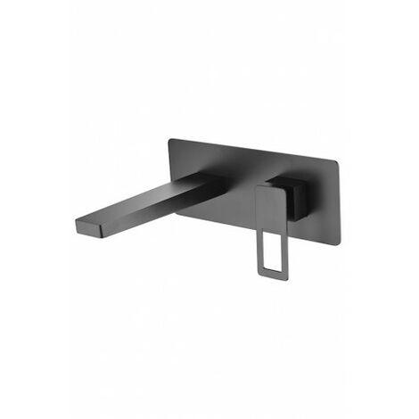 Robinet pour lavabo à encastrer noir Imex - Serie Suecia