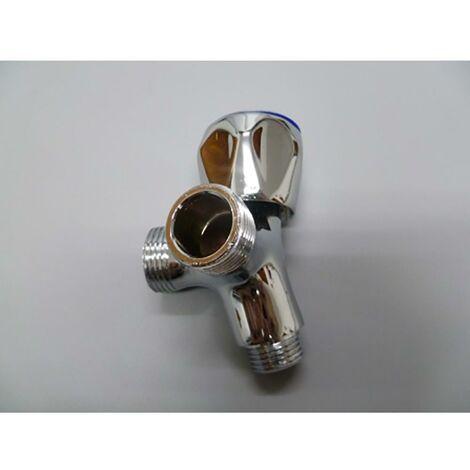 Robinet pour lave-vaisselle V 1/2'X3/4' Chrome Brass Saneaplast 170027