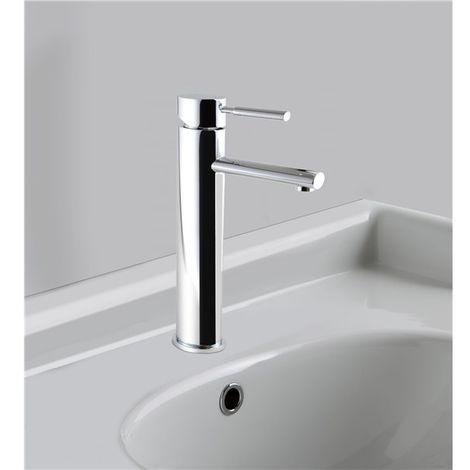Robinet pour vasque mitigeur haut de lavabo en laiton chrome avec vidage