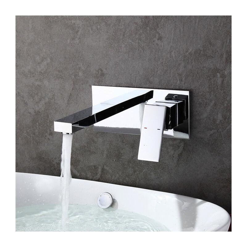 Robinet Salle de bain Mitigeur Lavabo Robinet pour Baignoire Mural ...