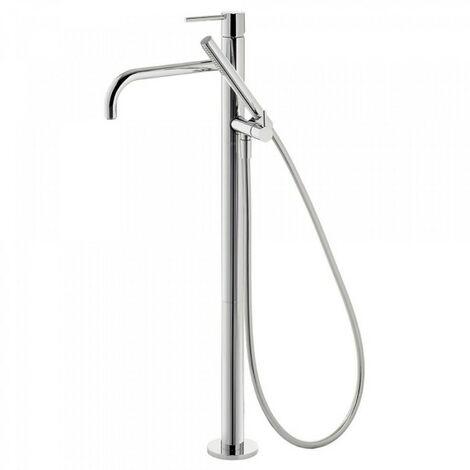 Robinet sur pied pour douche Corps encastré inclus. Douchette à main anticalcaire (034.116.01) et flexible. - TRES 26247001