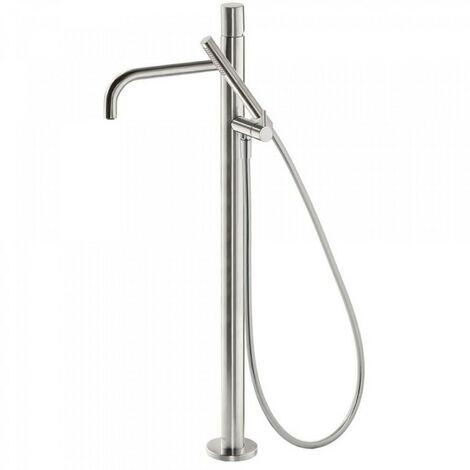 Robinet sur pied pour douche Corps encastré inclus. Douchette à main anticalcaire et flexible. - TRES 26247002AC
