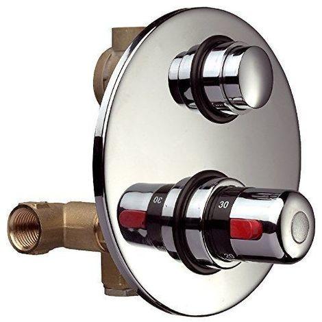 """Robinet temporisé avec mitigeur thermostatique Thermomat RUTP1404GMTC   1/2"""" M"""