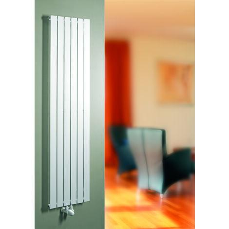 Robinet + tête thermostatique équerre, pour raccordement central, blanc, pour radiateur à eau chaude - Schulte