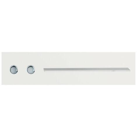 Robinetterie de salle de bains Keuco, 56161, tablette de douche et de bain avec mitigeur thermostatique DN 20, poignées à gauche, Coloris: Blanc, finition satinée - 56161012701