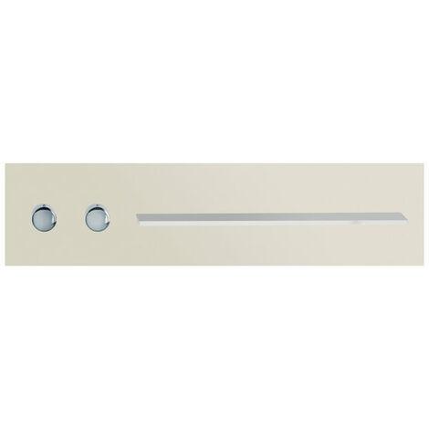 Robinetterie de salle de bains Keuco, 56161, tablette de douche et de bain avec mitigeur thermostatique DN 20, poignées à gauche, Coloris: Cachemire, finition satinée - 56161012801