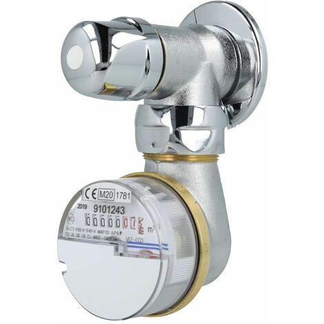 Robinetterie pour compteur 2,5 m³ robinets encastrés jusqu'à 30°C