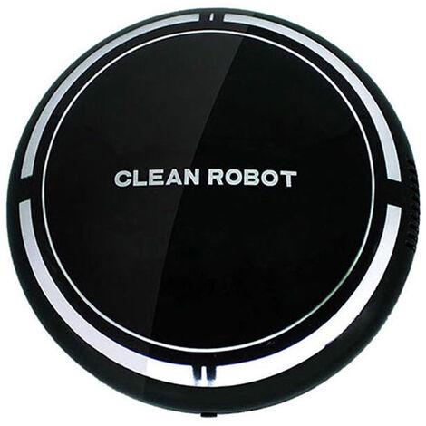 Robot Aspirador Inteligente Sweeper inteligente robot Barredor de suelo automatico Barrido maquina barredora Herramienta para el Suelo de madera placa de moqueta de pelo, Negro, solo puede vacio, sin bateria, 2 #