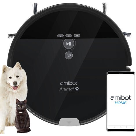 Robot aspirador y friegasuelos AMIBOT Animal XL H2O Connect