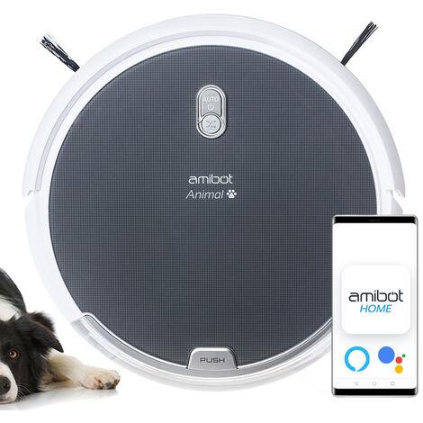 Robot aspirateur et laveur AMIBOT Animal Comfort H2O Connect - Gris