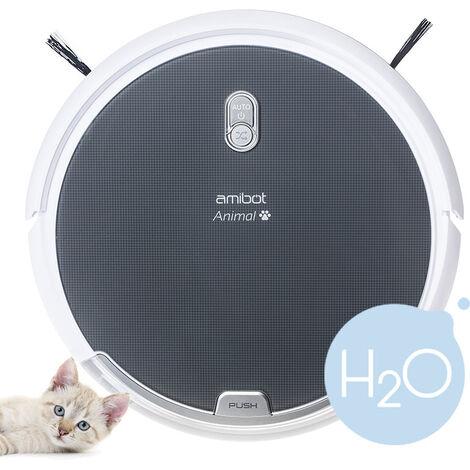Robot aspirateur et laveur AMIBOT Animal H2O - Grey