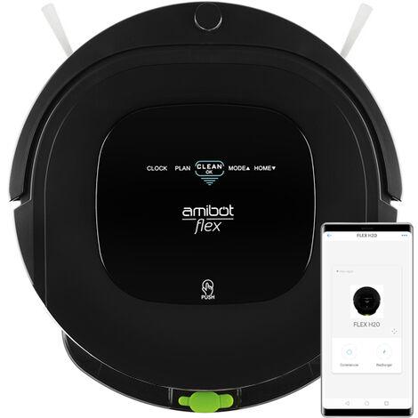 Robot aspirateur et laveur AMIBOT Flex H2O Connect - Black