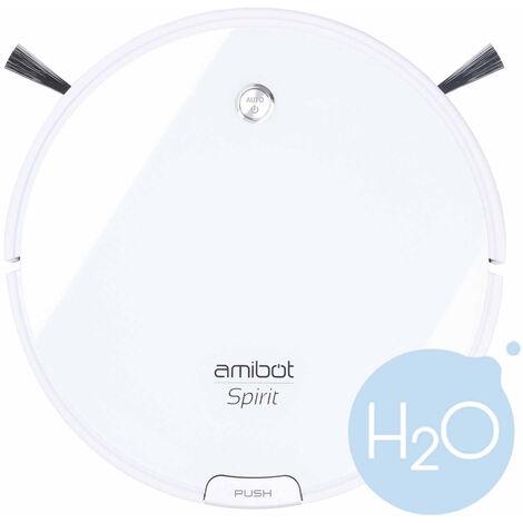 Robot aspirateur et laveur AMIBOT Spirit Ice H2O - White