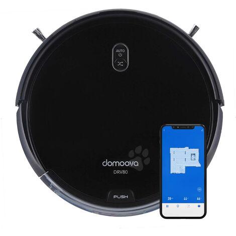 Robot aspirateur et laveur DOMOOVA DRV80 Animal Connect - Black