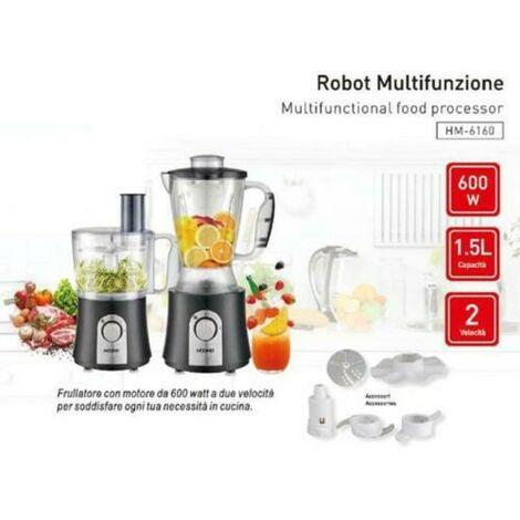 Robot Da Cucina Multifunzione 600 Watt 1 5lt Frullatore Tritatutto Hoomei Hm 6160